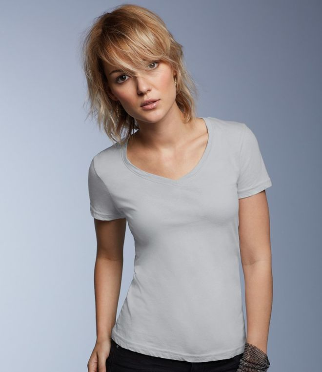 Anvil Ladies Sheer V Neck T-Shirt