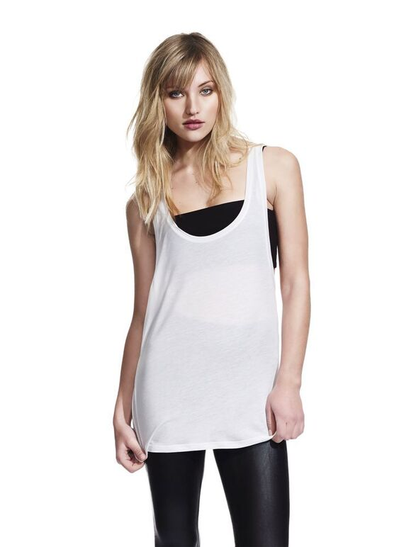 N92 Women's Low Cut Racer Back Tencel Vest