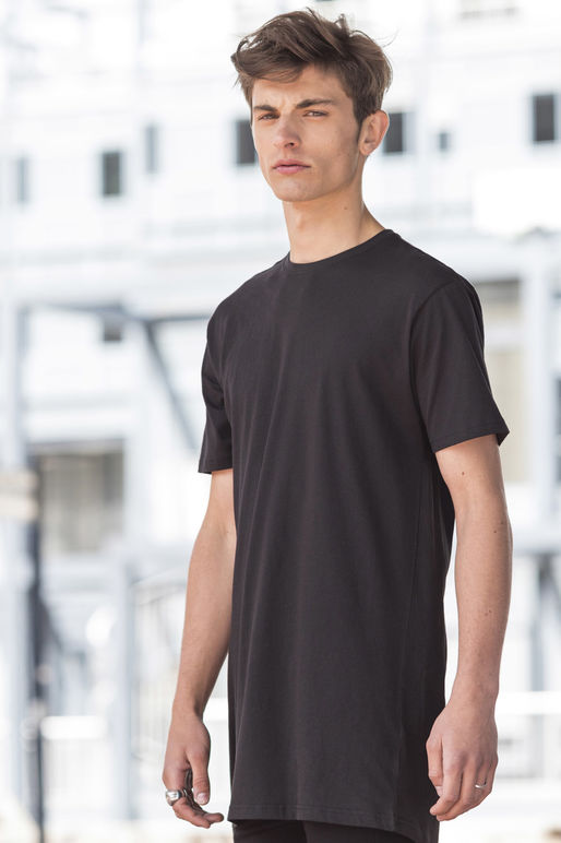 SF258 Men's Longline T-Shirt With Dipped Hem